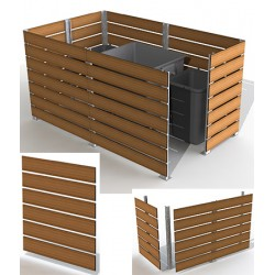 Module cache conteneur L 150 x H 135 cm