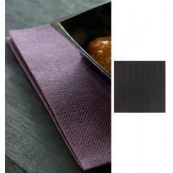 Carton de 720 serviettes 40 x 40 cm Dunisoft noires