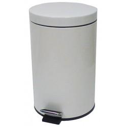 Poubelle JVD à pédale métal laqué époxy 12 L