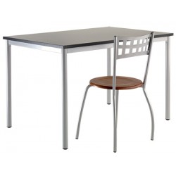 Table Doha 120x80 cm plateau stratifié chant PVC  T1 a T6