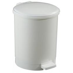 Poubelle à pédale ronde polypropylène blanc 12 L