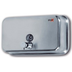 Distributeur de savon horizontal 1200 ml inox brossé