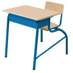 Table scolaire avec siège attenant Alice monoplace 70x50 cm mélaminé