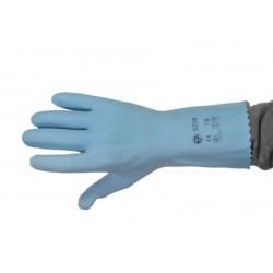 Gant latex bleu sur jersey coton (le carton de 100 paires)