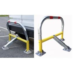 Barrière de parking flexible avec clés identiques coloris jaune