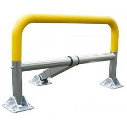 Barrière de parking à mémoire de forme avec clés différentes coloris jaune