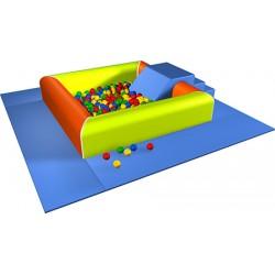 Kit Grande piscine avec 800 balles et tapis L260xP260xH43 cm