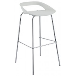 Tabouret de bar assise polypro Come