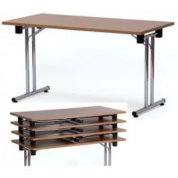 Table pliante empilable melamine Domo 180x80 cm