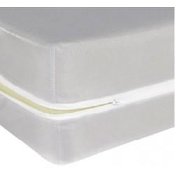 Housse de matelas ép 13 cm polyester polypropylène ignifugé 90x190 cm