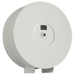 Distributeur papier hygiénique 400 m métal blanc