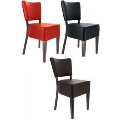 Lot de 2 chaises Amsterdam hêtre wengé et simili cuir