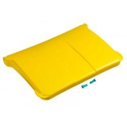 Couvercle jaune pour chariot Orion Porte-sacs 150L