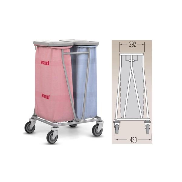 Chariot de collecte du linge pour 1 sac