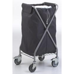 Chariot de collecte du linge avec sac polyester 145L