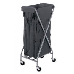 Chariot à linge en X pliable 1 sac de 100L