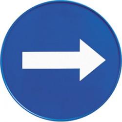 """Panneau de direction """"sens obligatoire"""" pour cone de sécurité"""