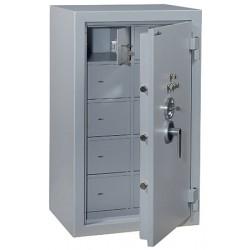 Armoires fortes à 10 compartiments 255 l serrure à clé A2P