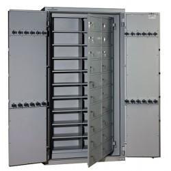 Armoires fortes à 40 compartiments 840 l serrure électonique
