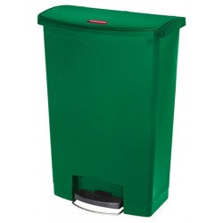 Collecteur à pédale HACCP SlimJim StepOn large 90 L vert