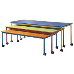 Table gigogne mobile mélaminé 200 x 80 cm Taille 6