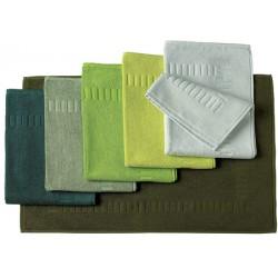 Tapis de bain 100% coton 50x70 cm 700g gamme verts