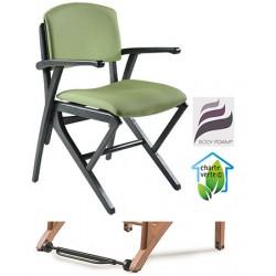 Bridge appui sur table bois Jasmin assise et dossier garnis tissu 1 avec Easy Roll