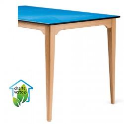 Table de restauration 4 pieds Violette bois plateau Top Resist 160x80xh75 cm