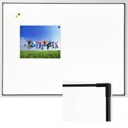 Tableau d'écriture Elégance blanc feutre profilé noir 120x240 cm
