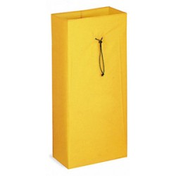 Sac en toile plastifiée 120 L jaune pour chariot de ménage et lavage