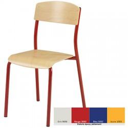 Lot de 4 chaises empilables NF Maële T6 coloris stock