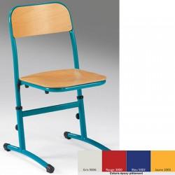 Lot de 2 chaises réglables appui sur table NF Rose T3 à T6 coloris stock