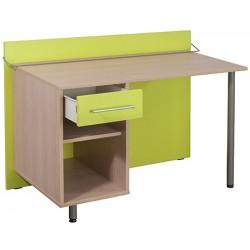 Bureau + caisson 1 tiroir Futur 128x62x89 cm