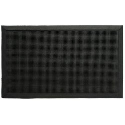 Lot de 10 tapis extérieurs picot noirs 60 x 80 cm