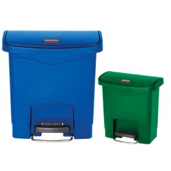 Collecteur à pédale HACCP Slimjim StepOn large 15 L bleu ou vert