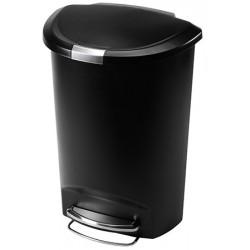 Poubelle à Pédale en plastique demi lune Simplehuman noir 50 L