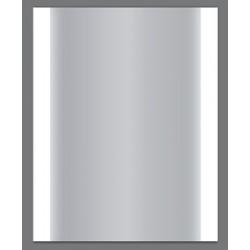 Miroir Lumineux LED verre et métal argenté L62 x P5 x H72 cm
