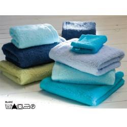 Lot de 3 draps de douche 65x125cm 100% coton peigné blanc ou couleur 530g