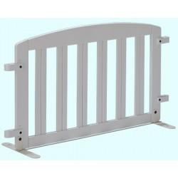 Barrière décorative simple en bois blanc L105 cm
