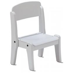 Chaise crèche bois blanc empilable T0