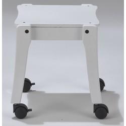 Tabouret bois blanc sur roulettes T3