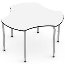 Table modulable et réglable T4 à T6 Trisix diam 122,5 cm
