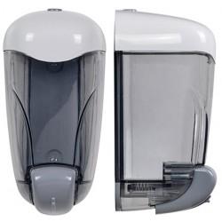 Ditributeur de savon 1,5 L transparent et blanc