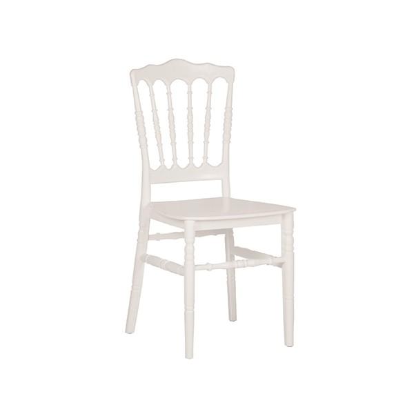 Galettes de chaises en bois empilables– vinyle blanc, M2