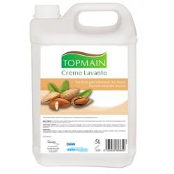 Lot de 4 bidons de 5L de crème lavante amande Topmain