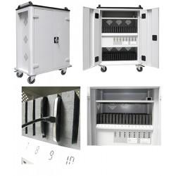 Armoire mobile 32 tablettes chargeur central L74 x P44 x H105 cm