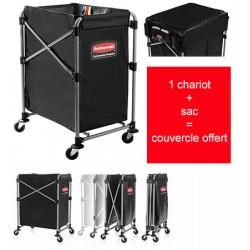 Chariot à linge X Cart 150 L avec sac / couvercle offert