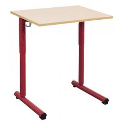 Table réglable scolaire NF à dégagement latéral Jeanne 70x50 cm mélaminé