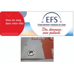 Banderole bâche PVC personnalisée avec œillets H80 x L200 cm