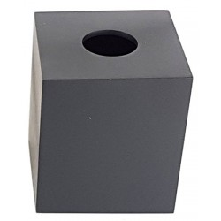 Lot de 12 boites à mouchoirs 13 x 13 x H15 cm résine noire